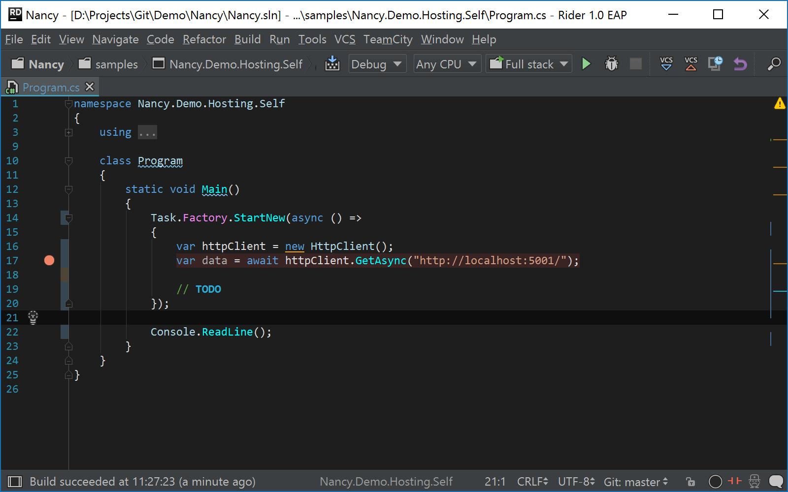 JetBrains Rider: Compound run configuration