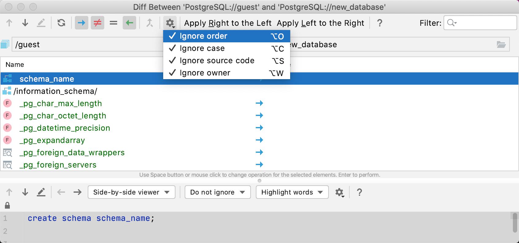 Generate a migration script