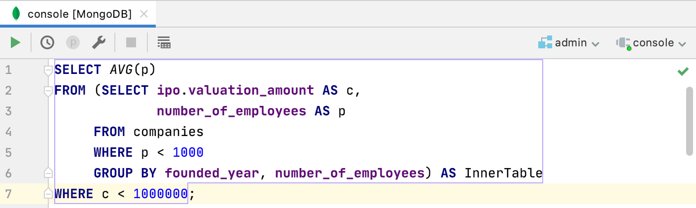 nested SELECT queries
