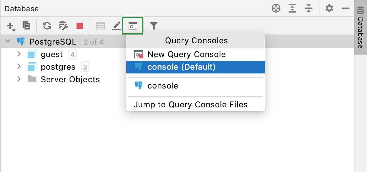 Open a console