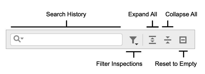 Inspections toolbar