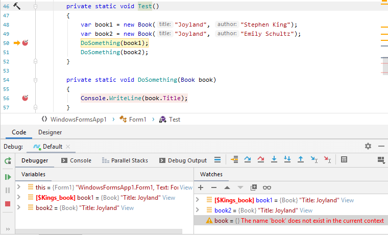 JetBrains Rider debugger: Tracking objects (Make Object ID)