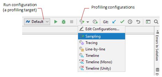 Profiling configurations in Rider