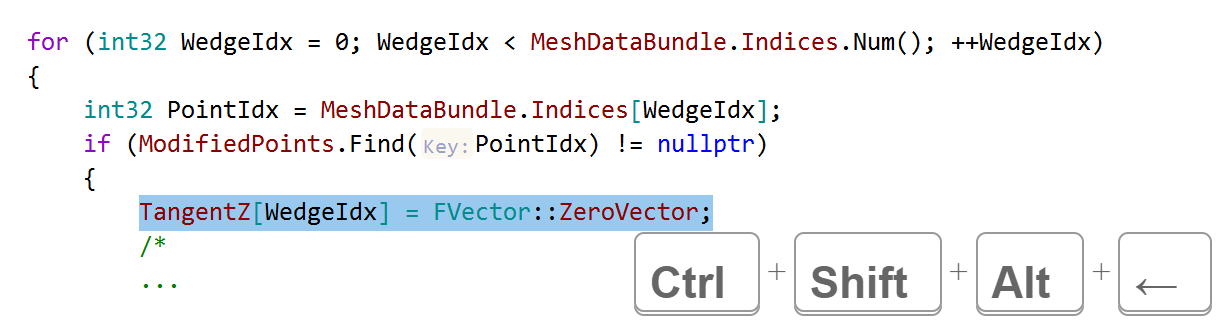 JetBrains Rider C++: Move a line into the following region
