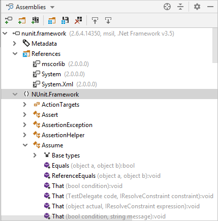 JetBrains Rider's Assembly Explorer view