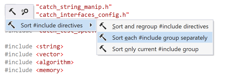 JetBrains Rider C++: Sort each #include group separately