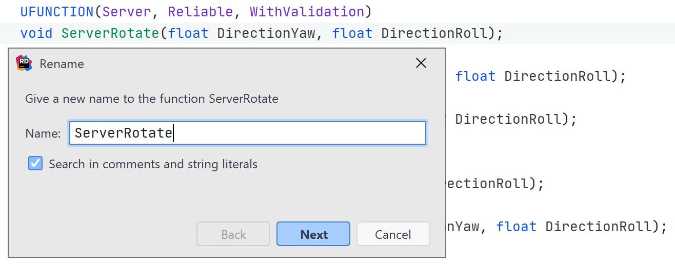 JetBrains Rider: refactoring RPC function calls