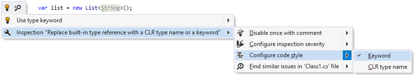 Changing code style preference for referencing C# built-in types