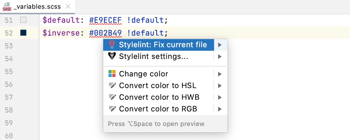 Stylelint quick-fix