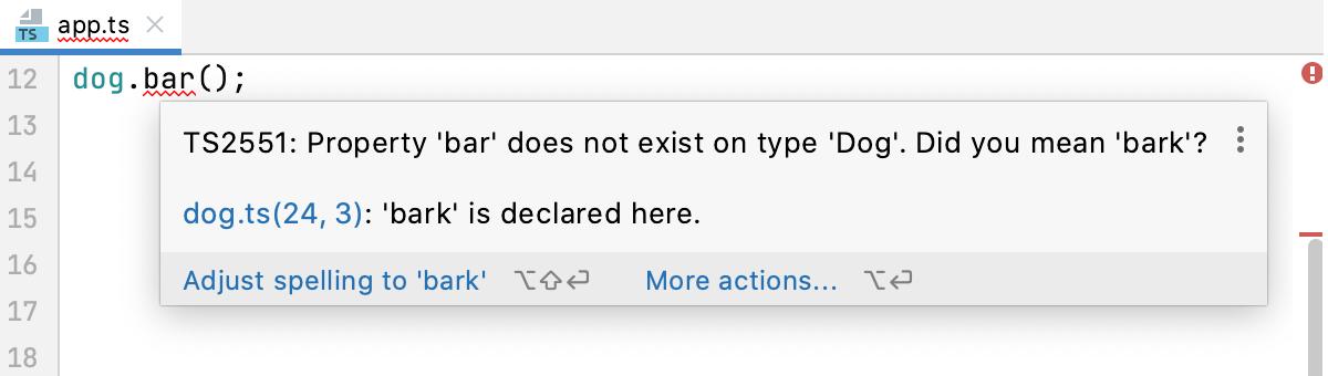 View description of an error in the editor