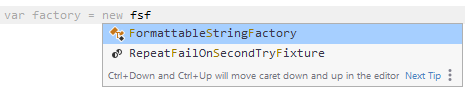 JetBrainsRider: Using CamelHumps in code completion