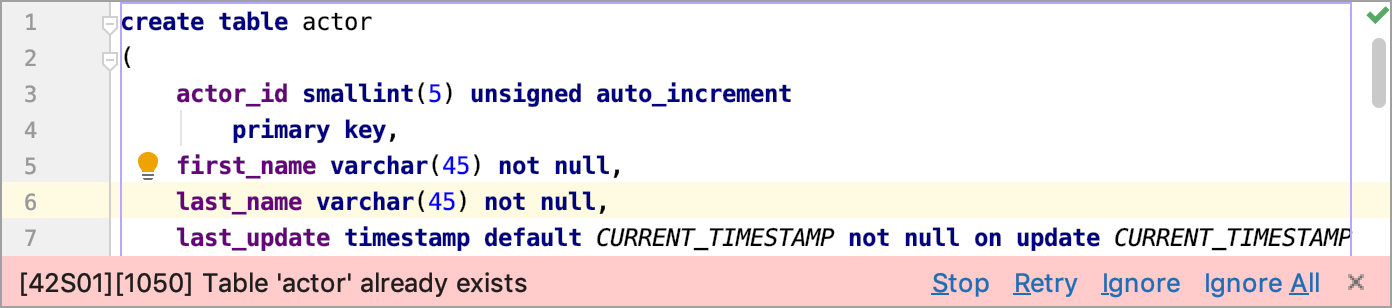Show error notifications in editor