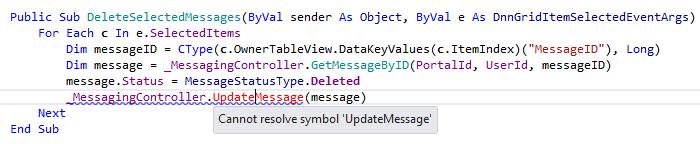 JetBrainsRider: Error highlighting in Visual Basic .NET