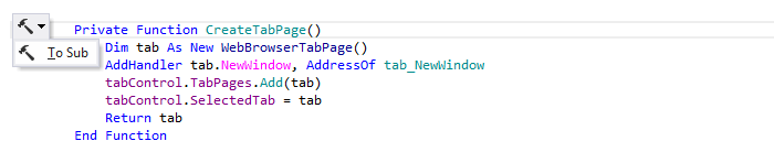 JetBrainsRider: 'Convert Function to Sub' context action in VB.NET