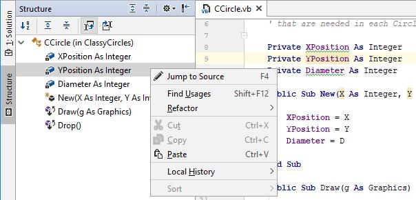 JetBrainsRider: File Structure in VB.NET