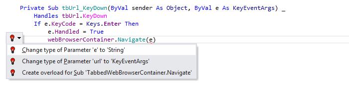 JetBrainsRider: Visual Basic support. Change type quick-fix