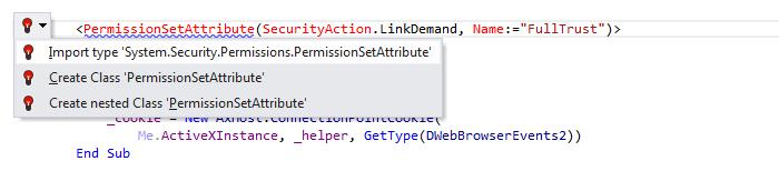 JetBrainsRider: Import namespace in Visual Basic