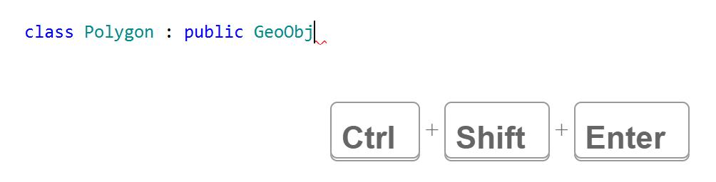 JetBrainsRider C++: complete statement