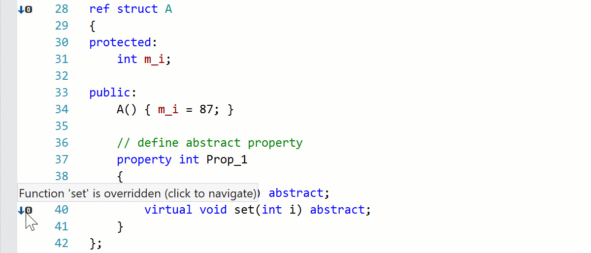 Go to Derived in C++/CLI