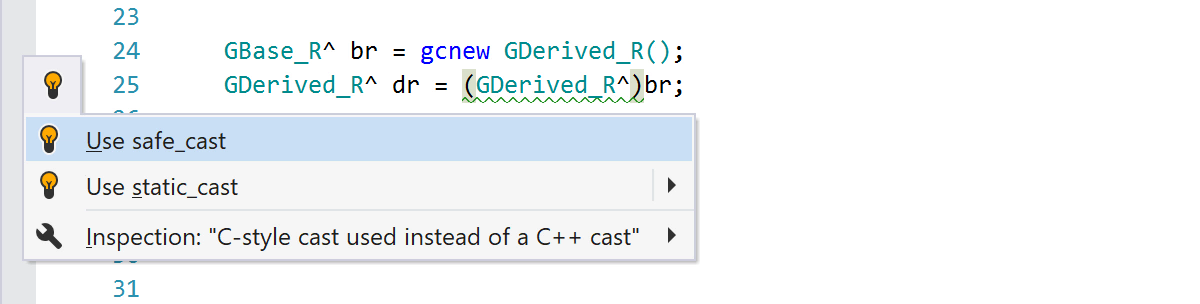 C-style cast used instead of a C++ cast