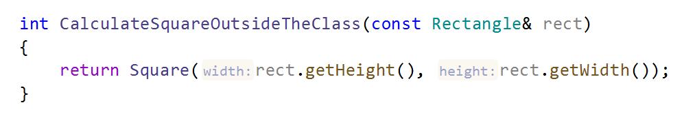 JetBrainsRider C++: parameter name hints
