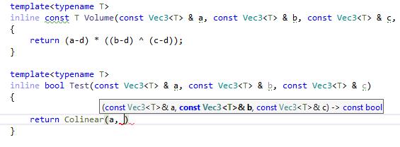 JetBrainsRider C++: Parameter information
