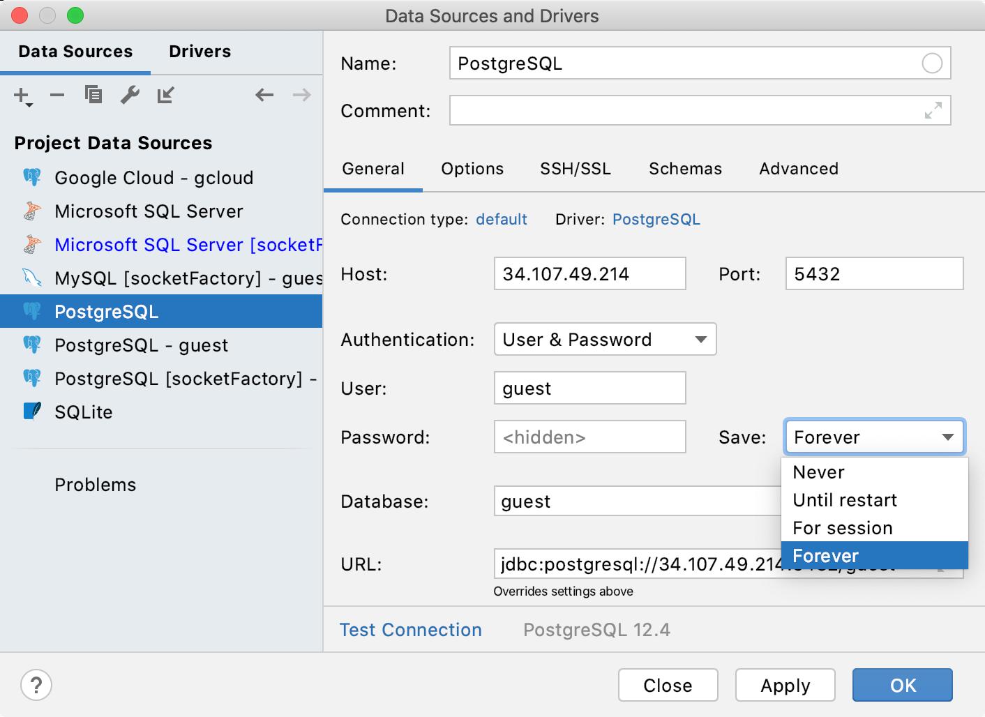 Options for password storage