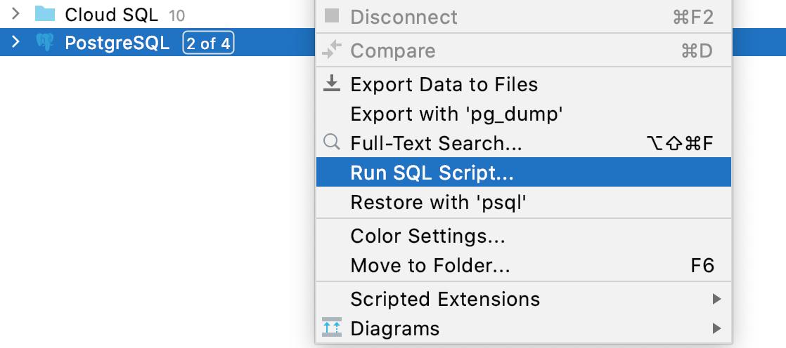 Run an SQL file