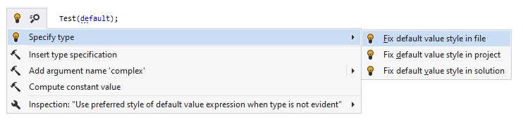 JetBrains Rider syntax style inspection: Specify type