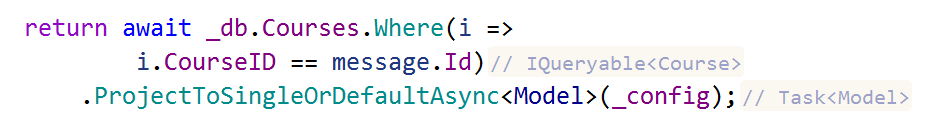 JetBrains Rider: Inlay hints return type in call chain