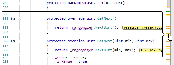 JetBrains Rider: Viewing code outside of the editor frame
