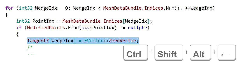 JetBrainsRider C++: Move a line into the following region