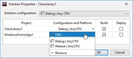 JetBrainsRider: Adding project build configuration