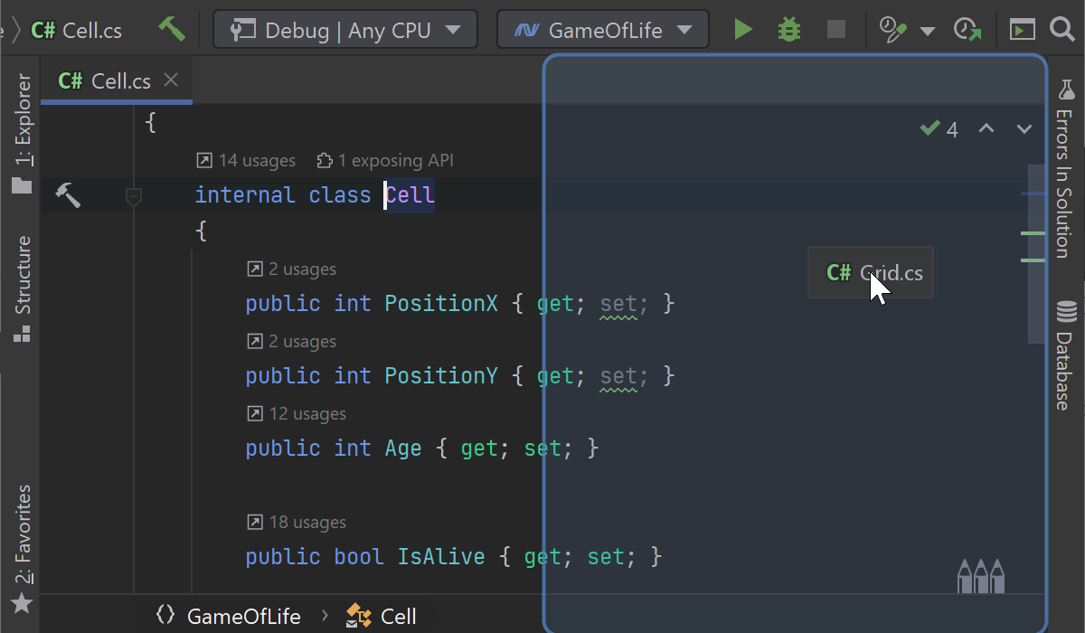 Splitting editor window with drag-and-drop