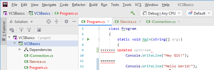 JetBrainsRider: version control status colors