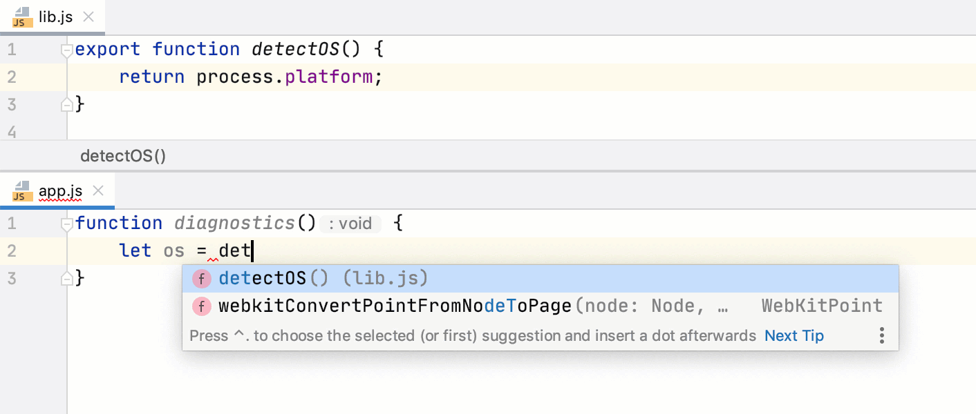 Add ES6 imports on code completion