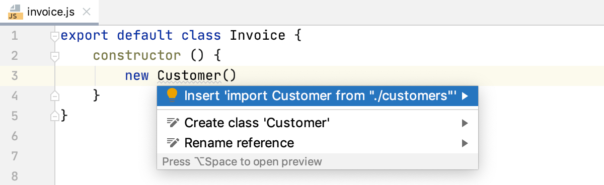 Add ES6 imports on code completion disabled