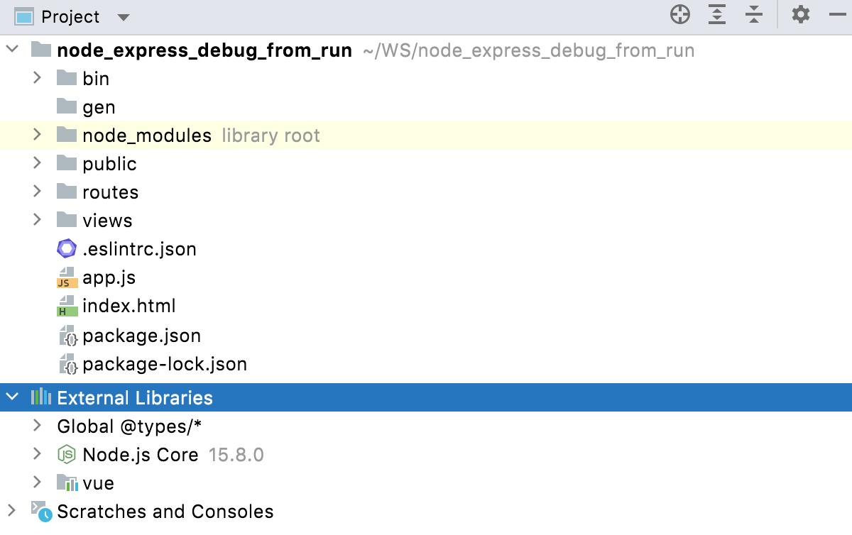 External libraries node