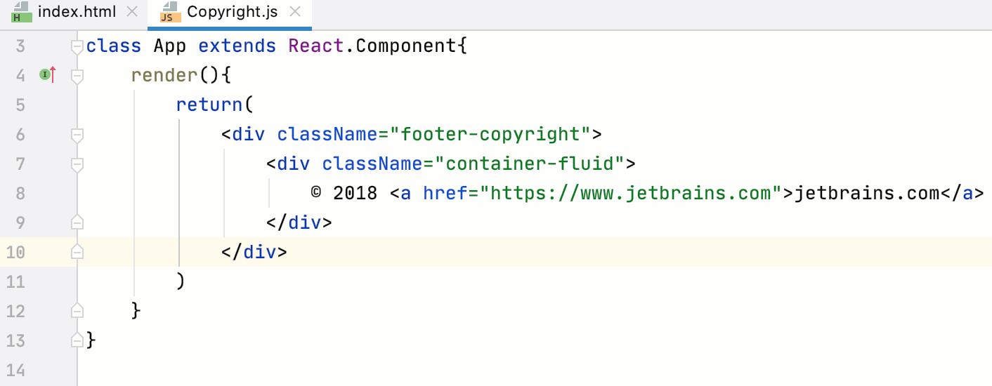 Transfer HTML to JSX