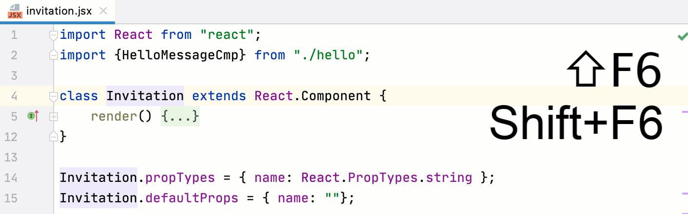 Rename component used in one file