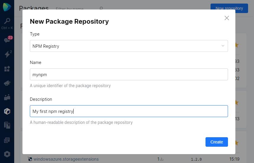 New npm registry