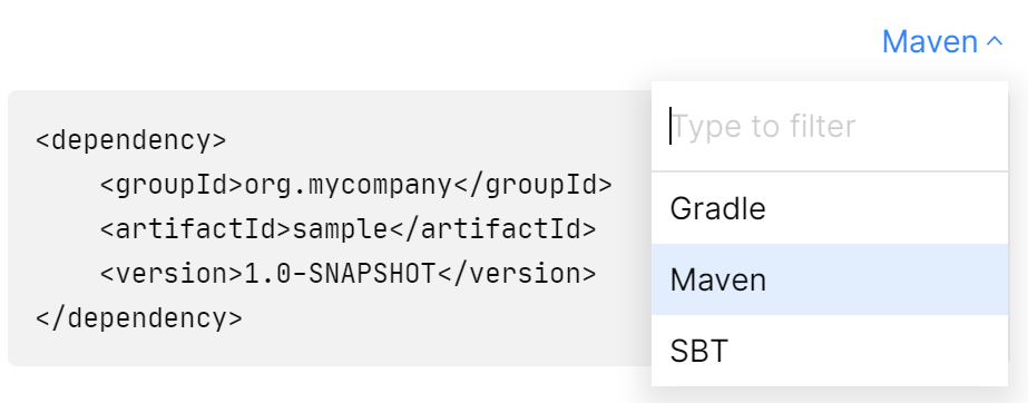 Maven snippets