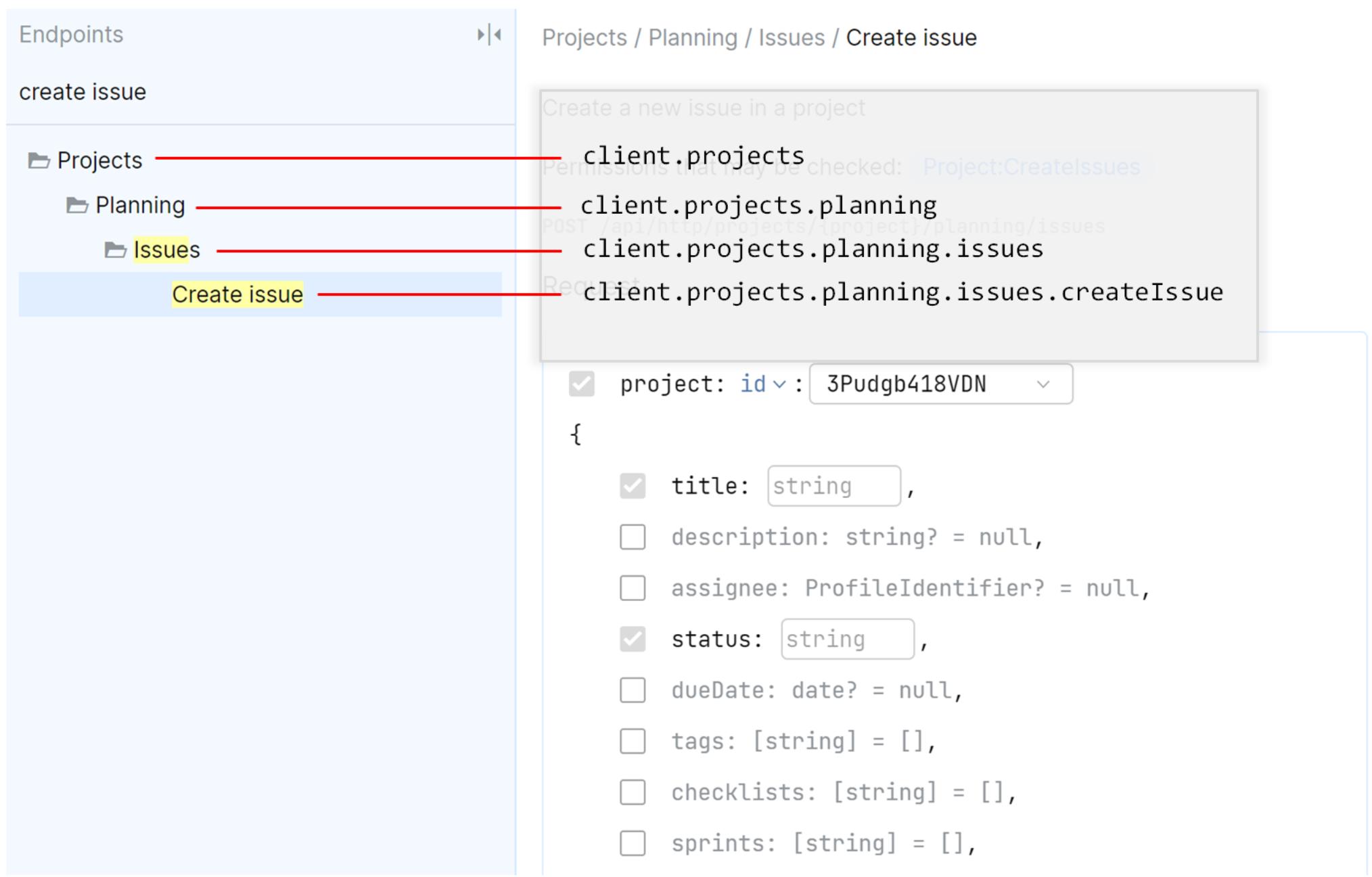 SDK client structure