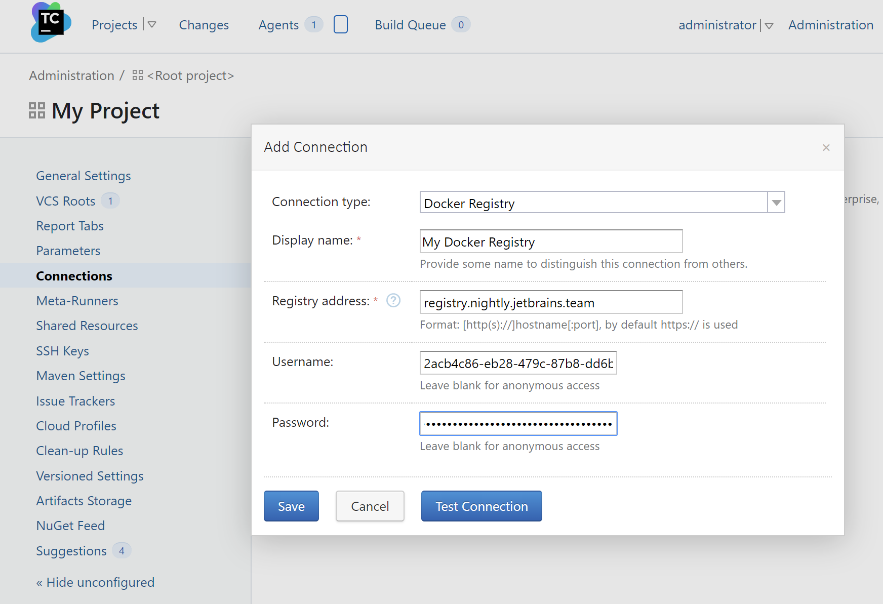 TeamCity. Add Docker repository