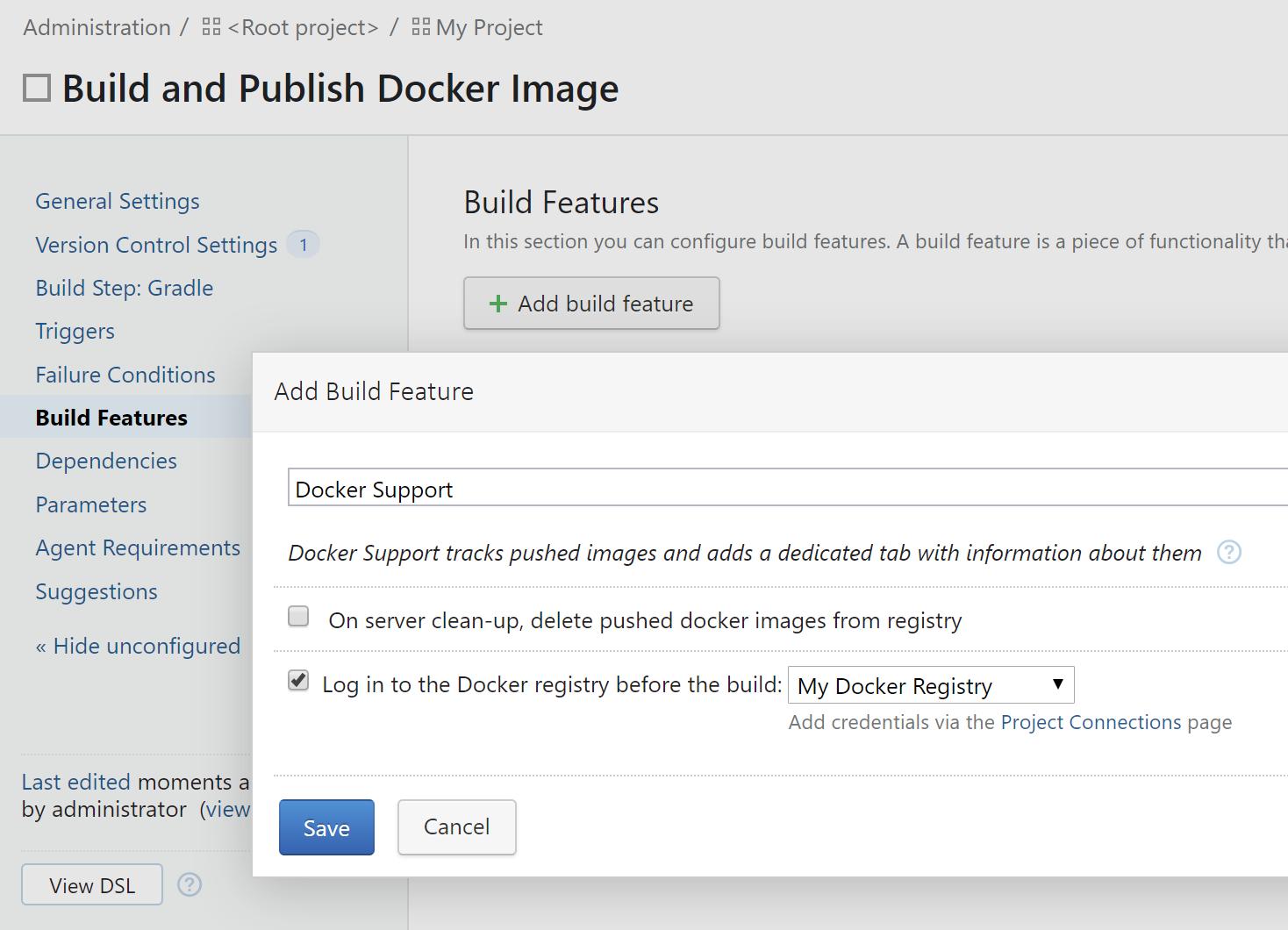 TeamCity. Add Docker support
