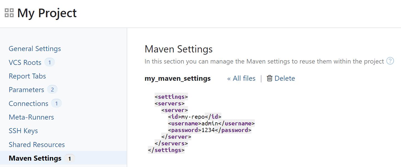 TeamCity Maven Settings