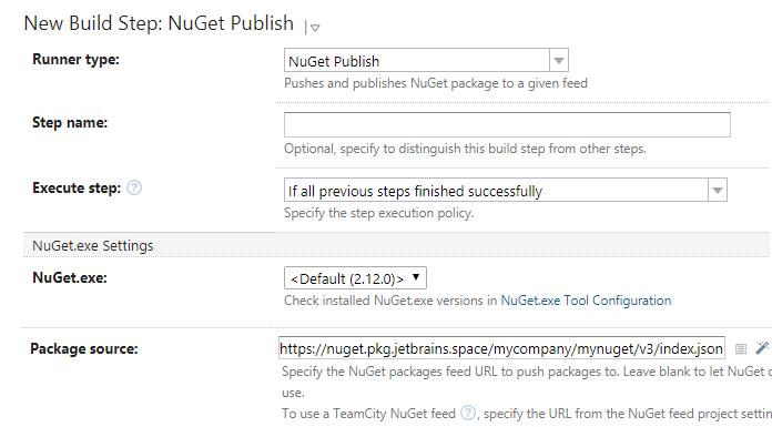 TeamCity. NuGet Publish