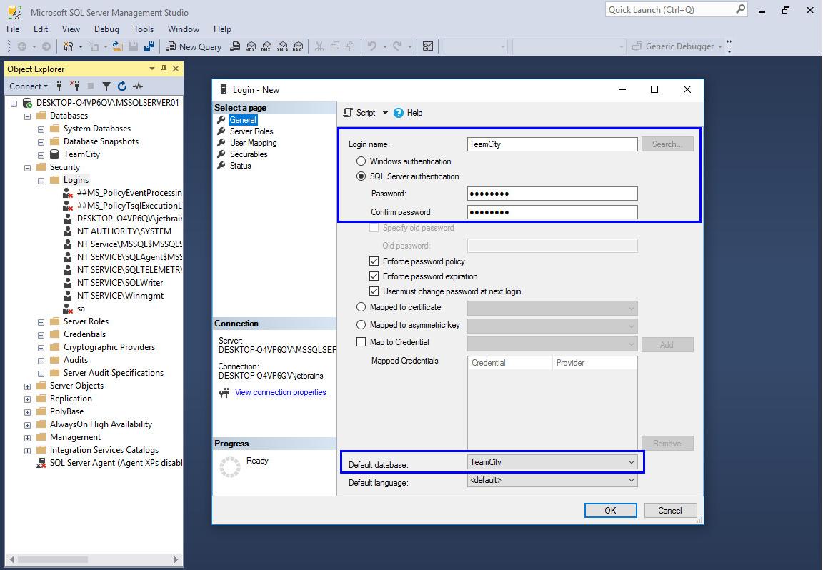 Setting up TeamCity with MS SQL Server - Help | TeamCity