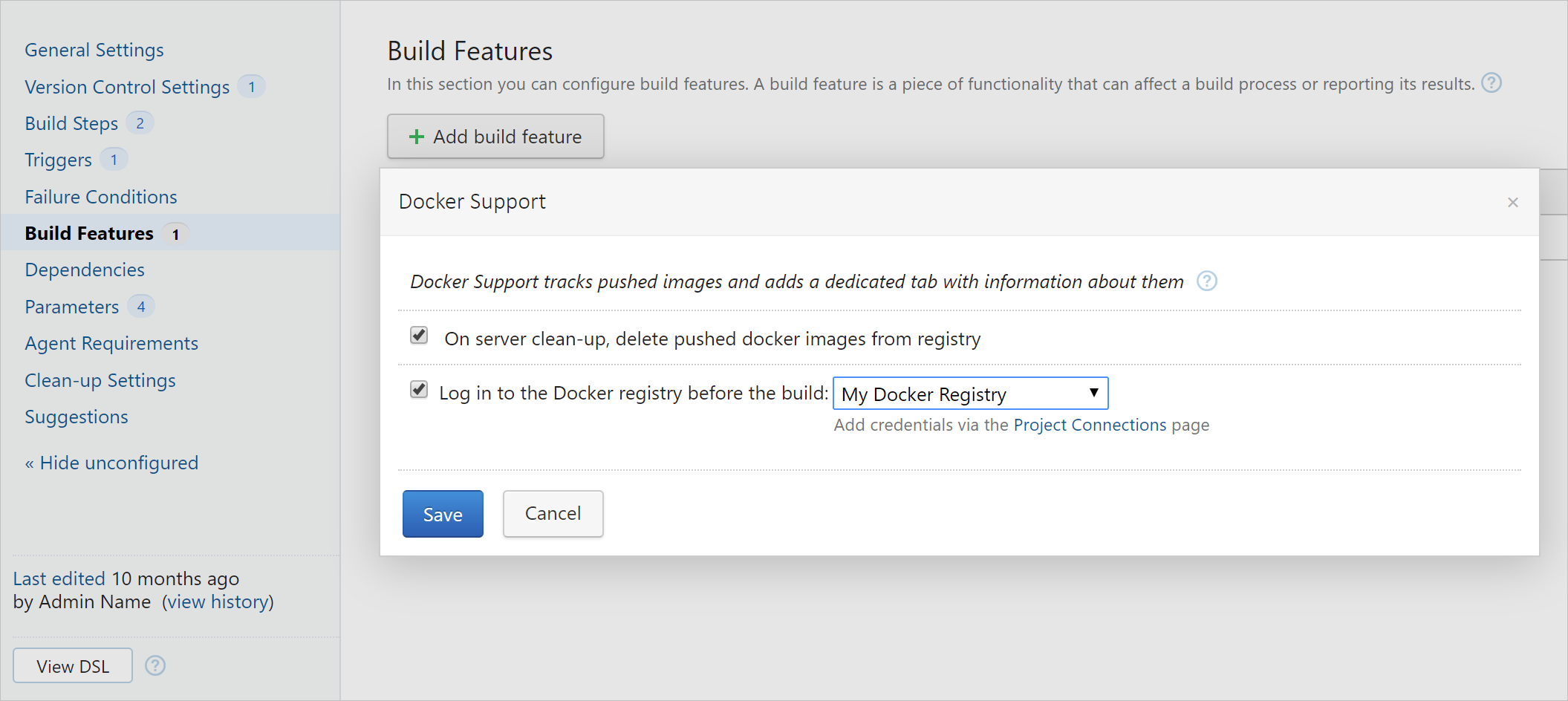 Docker Support build feature