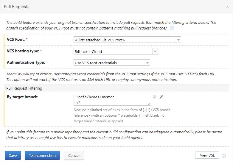 Bitbucket Cloud pull requests